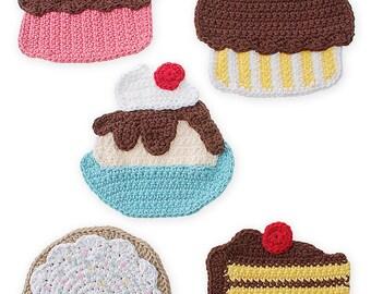 Crochet Sweet Treat Potholders pattern pdf