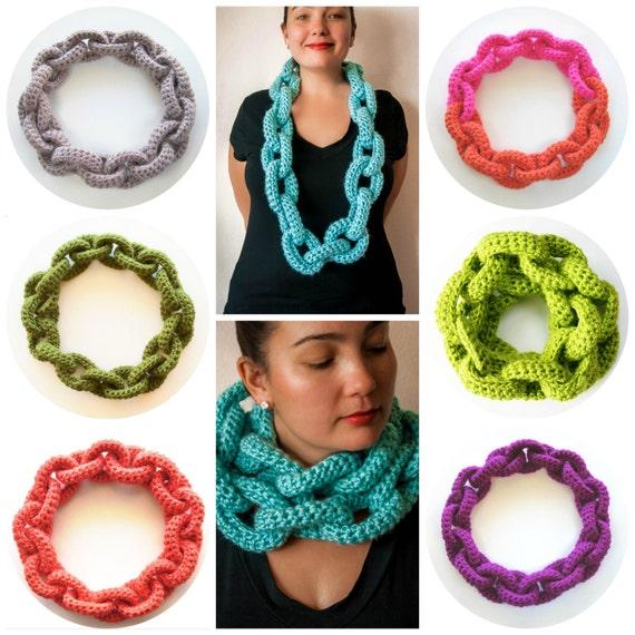 Chain Link Scarf Crochet Pattern Crochet Scarf Pattern Crochet