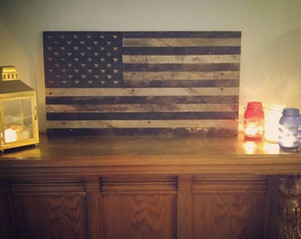Pallet Rustic American Flag- SMALL