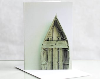 Photo greeting card, Boat Photographic greeting card. Photographic Greeting Card. Blank card. Coastal greeting card. Nautical greeting card.