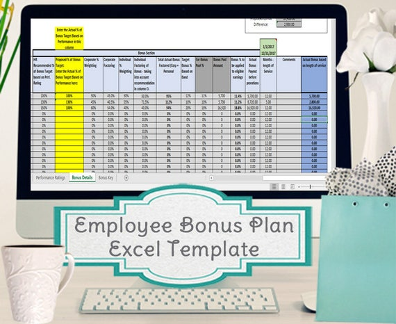 Employee Bonus Excel Template Incentive Plan Calculation
