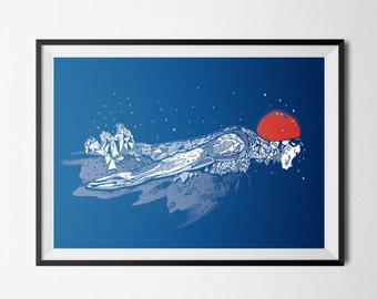 Olympic Swimmer | Sports Print | Swimming Poster | Swimming Art | Inspirational Art | Sport Art | Sport illustration