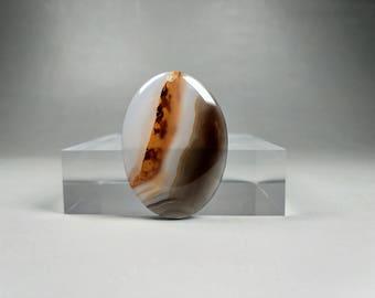 A Natural Lanscape Agate Cabochon Pendant  #PA-008