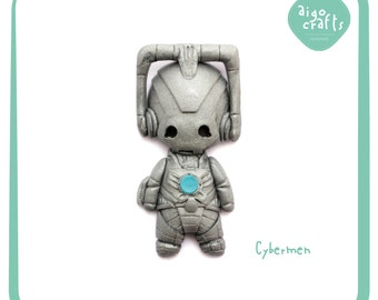 Doctor Who Polymer Clay Cybermen Cell Phone Charm – Doctor Who Collection
