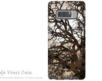 Brown Tree Galaxy Note 8 Case - Abstract Art Case for Samsung Galaxy Note 8 with Artwork - Autumn Moonlit Night - Premium Dual Layer Case