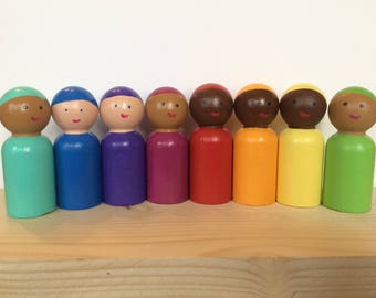 Rainbow friends peg people