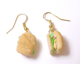 Earrings - realistic sandwich polymerclay