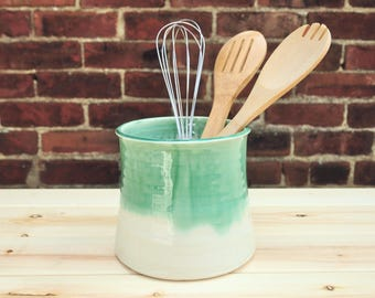 Utensil Crock - Spoon Holder - Handmade Pottery - Made To Order