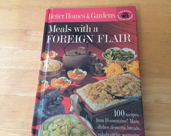 Vintage 1963 Mid-Century Meals with a Foreign Flair Cookbook