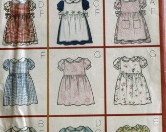 Girls Dress Sewing Pattern - Childs Dress Sewing Pattern - Pinafore Sewing Pattern - Butterick 6484 - New - Uncut  - Size 1 -2 - 3 - 4