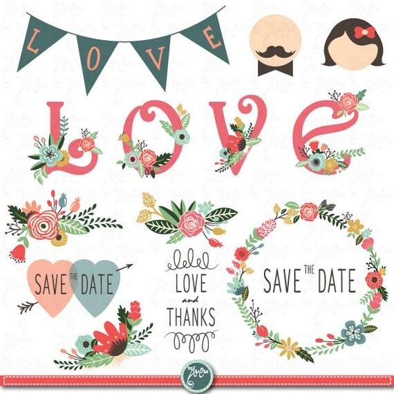 wedding clipart designwedding floral rh etsy com vintage wedding border clipart png vintage wedding border clipart