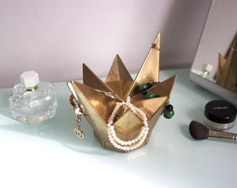 Jewelry stand Сrown, Hand made, Necklace Holder - Jewelry organizer, Jewelry Holder, Jewelry display, Bracelet stand, Jewelry Hanger, Gold