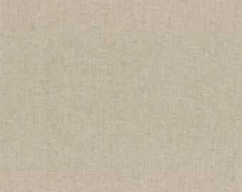 HALF YARD Lecien - Natural Cotton Linen Canvas - 45% Cotton /55 Linen Blend Canvas - Japanese Import