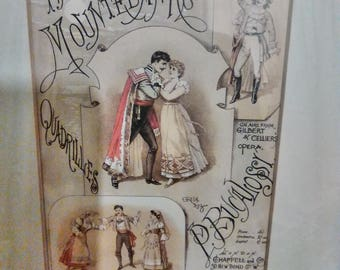 The MounteBank comic opera advertising print.