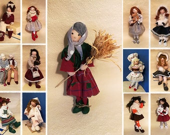 """Collectible Doll """"Epiphan"""", made and sewn by hand"""