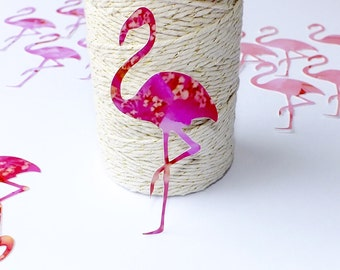 6 x Large Pink Flamingo Embellishments, for Scrapbooking, Card Making, etc. 3 colours to choose from - Cards by Gaynor, Die Cut Flamingoes