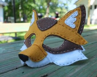 Handstitched Felt Mask, The Fox Mask