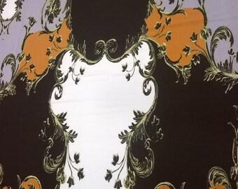 SALE, Jersey fabric with large paisley pattern, fabric by yard/half yard,european fabric
