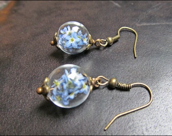 Delicate forget me not earrings