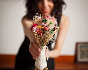 spring bouquet of preserved flowers boho bridal bouquet spring colorful bouquet of preserved flowers ritaflowers bouquet eternal flowers