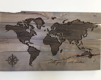 Wood world map etsy gumiabroncs Gallery
