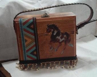 Horse lovers cigar box purse