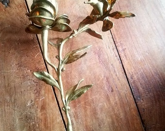 Vintage Brass Hummingbird Candle Holder, Brass Candleholders, Hummingbird Decor, Table Decor, Vintage Brass Candleholders
