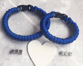 Father and Son Bracelet Set, Dad and Son Bracelet Set, Paracord Bracelet Set, Gift For Him, Gift For Husband, Mens Bracelet, Boys Bracelet