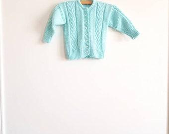 Vintage Blue/Green Toddler Sweater