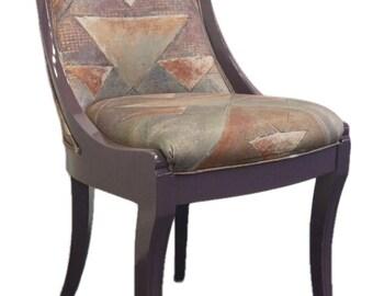 10 Eccentric Italian Designer Purple Biedermeier Style Dining Chairs