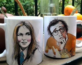 Pack 2 mugs Woody Allen - Diane Keaton