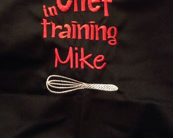 Personalized Chef in Training Apron