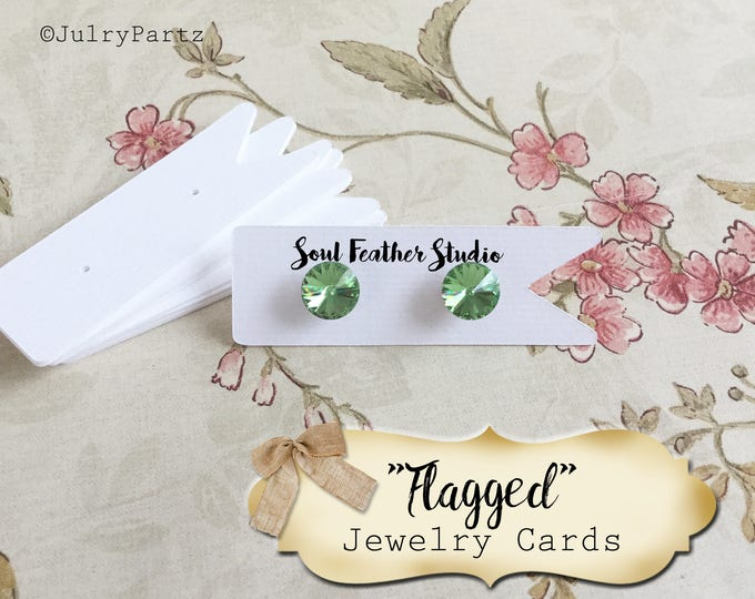 FLAGGED•EARRING Cards•Jewelry Cards•Earring Display•Post Earring Card•Hoop Earring Card•Lever Earring Card