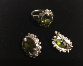 Earrings and ring set sterling silver 925 from ukraine