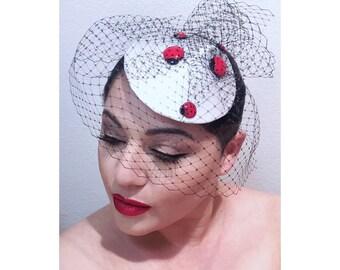 LADY BUGS Fascinator hat