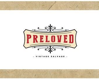 Custom Logo Design - PreDesigned Logo - PreMade Logo - Vector Logo - OOAK Logo - PRELOVED Logo Design - Victorian Logo - Vintage Logo Design