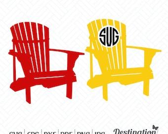 Adirondack chair svg   Etsy