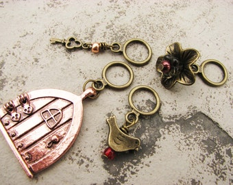 The Secret Garden Non-Snag Stitch Markers