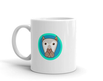 Blue Magical Curly Dog Coffee Mug