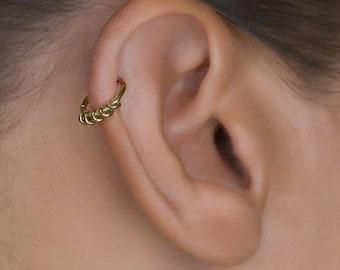 Gold Helix Hoop. Cartilage Hoop. Tragus Piercing. Cartilage Jewellery. Tragus Earring. Cartilage Earring. Helix Earring.
