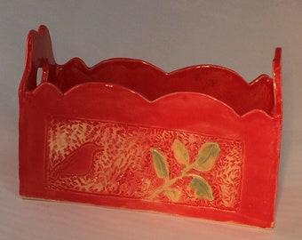 Red Ceramic Box