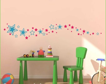 Star Set for Baby Nursery, Kid's Room, Playroom Wall Decal S-135