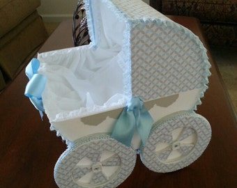 The Tyler Baby Carriage Centerpiece / Baby Shower Centerpiece