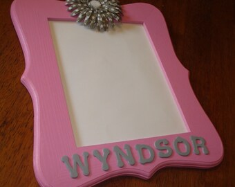 painted wood picture frames. Personalized Name Hand Painted Wood Frame Picture Frames