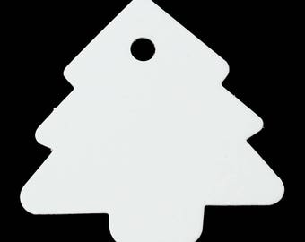"set of 10 tags price 54 X 54 mm ""tree"""