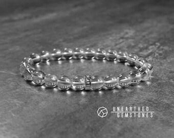 Clear Quartz Bracelet - White Quartz Bracelet, Clear Quartz Jewelry, Beaded Crystal Jewelry, Healing Gemstone Bracelet
