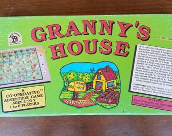 Vintage 1985 Board Game Granny's House by Family Pastimes