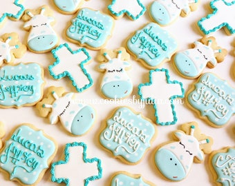 Baptism favors/christening cookies // baptism gifts // baptism // christening favors // christening/baby boy/custom cookies