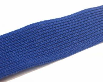 Blue Knit Elastic Band - Blue Stretchy Trim - Sewing Elastic - Craft Elastic  - Craft Destash - Sewing Destash - B96 - 2.5 Yards