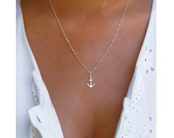 Sterling Silver Anchor Necklace, Minimalist Anchor Jewelry, Travel Inspired Jewelry, Tiny Silver Anchor, Sterling Silver Nautical Necklace